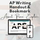 AP Writing Handout and Bookmark
