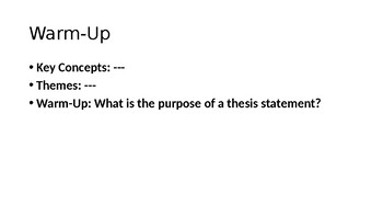 AP Writing Skills Lesson-PowerPoint