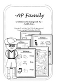AP family words_Black & White
