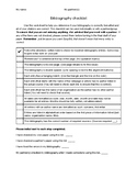 APA Bibliography Checklist
