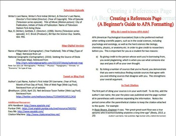 apa citation guide booklet and practice exercises bibliography