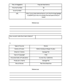 APA Citation Guide Booklet and Practice Exercises (Bibliography)