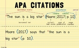 APA Citation Poster