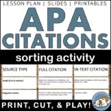 APA Citations Sorting Activity