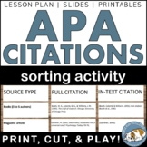 APA Citations Sorting Activity