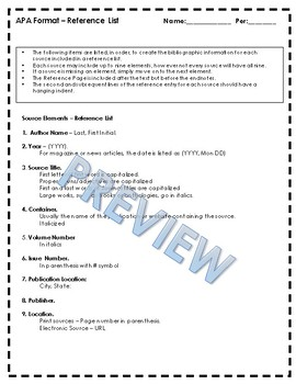 apa format 3 exercises 12 pages in text documentation reference