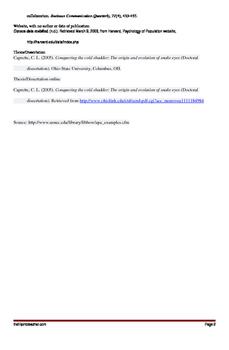 APA Format Example Handout