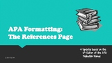 APA Formatting:  The References Page