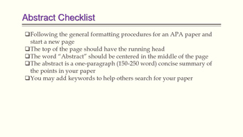 APA Formatting and Guidelines