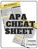 APA Guideline Cheatsheet