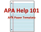 APA HELP 101 The Best Template for your APA Paper!