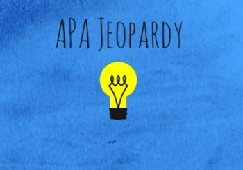 APA Jeopardy