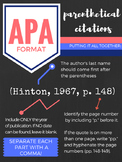 APA Parenthetical Citation Poster Set (Dark)