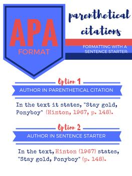 APA Parenthetical Citations Poster Set (Light)