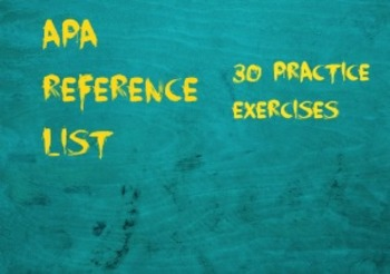 APA Reference List Exercises