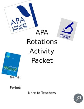 APA Rotation Activities