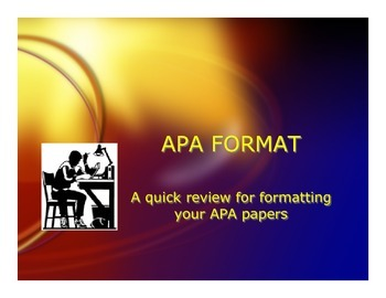 APA quick review