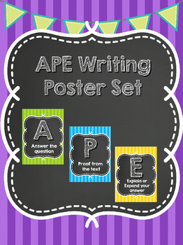 APE Acronym Writing Posters