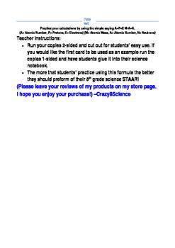 A=P=E M-A=N Cards 8th Grade Science STAAR prep