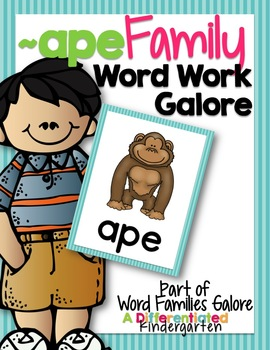 APE Word Family Word Work Galore-Differentiated and Aligned