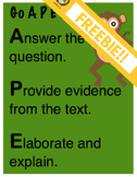 Cite Evidence with APE Writing Poster