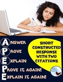 Test Prep Short Constructed Response Anchor Charts & Graphic Organizers
