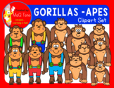 APES AND GORILLAS CLIPART