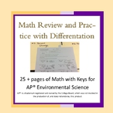 Math Review and Practice Bundle with Differentiation for APES
