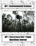 APES *Topic Questions* Journal (ALL UNITS BUNDLE)