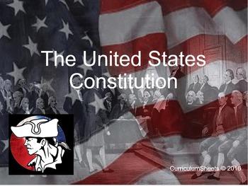 American  Gov United States Constitution Flipped (Bundle) Unit
