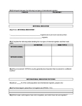 APHG The Cultural Landscape 11th Edition - Ch3 KI1 Guided Reading Notes