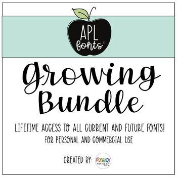 APL Fonts Growing Bundle