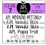 APL Fonts Volume Seven