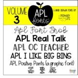 APL Fonts Volume Three