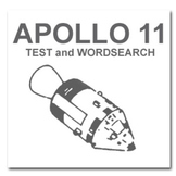APOLLO 11 ( TEST and WORDSEARCH worksheets )