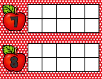 APPLE Ten Frames (includes worksheet)