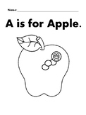 APPLE Basic Shapes Coloring Page