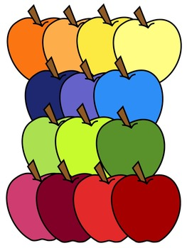 APPLE CLIP ART * COLOR AND BLACK AND WHITE