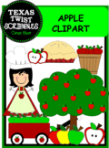 APPLE CLIPART {Texas Twist Scribbles}