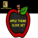 Apple Clock Set for Telling Time in Apple Theme Decor