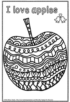 APPLE COLORING (freebie)
