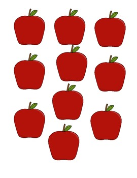 APPLE COUNTING MAT 1-10