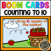 APPLE Counting to 10: BOOM CARDS