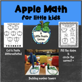 APPLE MATH ACTIVITIES FOR LITTLE KIDS: Hands-on & cut and
