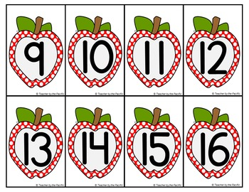 APPLE Math Number and Tally Mark Cards for Matching, Memory, Adding, Comparing