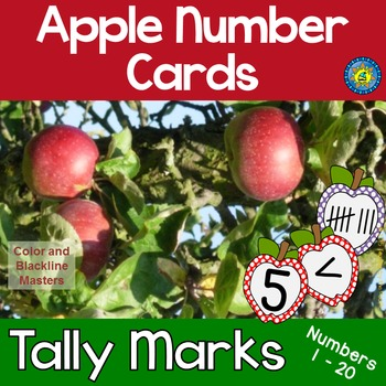 APPLE Math Number and Tally Mark Cards for Matching, Memor
