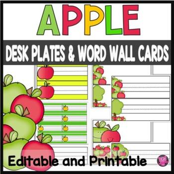 Apple Theme Name Plates