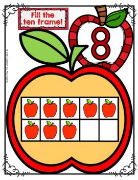 APPLE Math Number Mats 1-10 ~ Fill the Ten Frame!