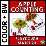 APPLE PLAYDOUGH MATS 1-20 (FALL MATH CENTERS) KINDERGARTEN