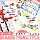 APPLE SET 1 - Easy Peasy Name Practice Activities - PreK, Kinder, Preschool